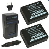 WASABI POWER Battery 2-Pack & Charger for Fujifilm NP-W126 (Merchant) - On Camera Battery