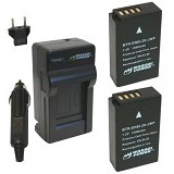 WASABI POWER Battery 2-Pack & Charger for Nikon EN-EL20 (Merchant) - On Camera Battery