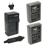 WASABI POWER Battery 2-Pack & Charger for Olympus BLN1 (Merchant) - On Camera Battery