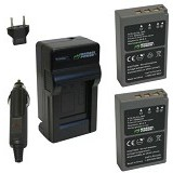 WASABI POWER Battery 2-Pack & Charger for Olympus BLS5 (Merchant) - On Camera Battery