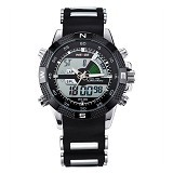 WEIDE Jam Tangan Pria Japan Quartz Silicone Strap LED Sports [WH1104] - Black (Merchant) - Jam Tangan Pria Fashion