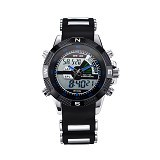 WEIDE Jam Tangan Pria Japan Quartz Silicone Strap LED Sports [WH1104] - Blue (Merchant) - Jam Tangan Pria Fashion