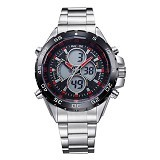 WEIDE Jam Tangan Pria Japan Quartz Stainless Strap LED Sports [WH1103] - Red (Merchant) - Jam Tangan Pria Fashion