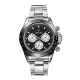 WEIDE Jam Tangan Sports Pria Japan Quartz Stainless Strap [WH3309] - Silver Black (Merchant)