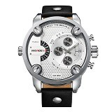 WEIDE Miyota Jam Tangan Pria Leather Sports Japan Quartz [WH3301] - Black White (Merchant) - Jam Tangan Pria Sport