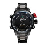 WEIDE Miyota Jam Tangan Sports Pria Japan Quartz LED [WH2309] - Black White (Merchant) - Jam Tangan Pria Sport