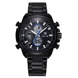 WEIDE Miyota Japan Quartz Stainless Strap [WH3410] - Black Blue (Merchant) - Jam Tangan Pria Casual