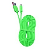 WELLCOMM Kabel Data Flat Micro USB 1.5M - Green (Merchant) - Cable / Connector Usb
