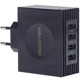 WELLCOMM USB Home Charger 4 Port Tab