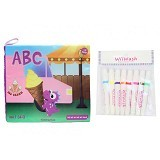 WIIWASH Washable Book with Markers [BZ-911] - ABC Vol. 1 (Letter A-I) - Buku Seni Gambar
