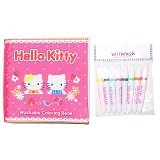 WIIWASH Washable Book with Markers - Hello Kitty - Buku Seni Gambar