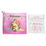 WIIWASH Washable Book with Markers [BZ-921-a] - Princess - Buku Seni Gambar