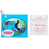 WIIWASH Washable Book with Markers - Thommas & Friends - Buku Seni Gambar