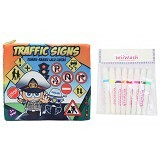 WIIWASH Washable Book with Markers [BZ-919] - Traffic Sign - Buku Seni Gambar