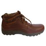 WIN LEATHER Sepatu Boot Pria Kulit Sapi Asli Size 38 [MHD SP-86] - Coklat Tua - Casual Boots Pria