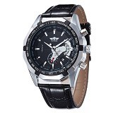 WINNER Automatic Mechanical Watch For Men [TM340] - Black - Jam Tangan Pria Casual