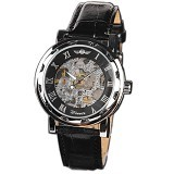 WINNER Automatic Mechanical Watch For Men [U8018] - Black - Jam Tangan Pria Casual
