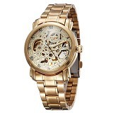 WINNER Skeleton Automatic Mechanical Watch For Men [U8008] - Gold - Jam Tangan Pria Casual