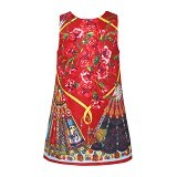 WL MONSOON Dress Princess Sleveless Size 5A Y 110cm - Red - Dress Bepergian/Pesta Bayi dan Anak