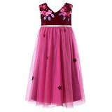 WL MONSOON Dress Wine Size 8A Y 128cm - Red - Dress Bepergian/Pesta Bayi dan Anak