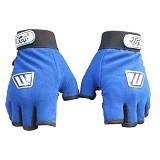 WOLFEN Sarung Tangan Half Finger - Biru - Sarung Tangan Motor