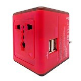 WON Travel Adapter Charger [T268] - Red - Universal Charger Kit