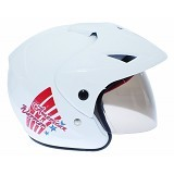 WTO Helm Anak American Warrior All Size - Putih - Helm Motor Half Face