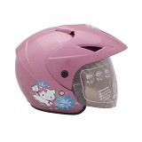WTO Helm Anak Charmmy All Size - Pink Ungu - Helm Motor Half Face