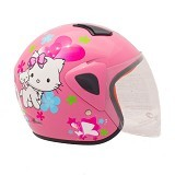 WTO Helm Anak Charmmy Size M - Pink - Helm Motor Half Face