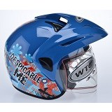 WTO Helm Anak Despicable Me Size M - Biru - Helm Motor Half Face