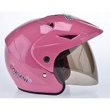 WTO Helm Anak Okuni All Size - Pink - Helm Motor Half Face