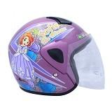 WTO Helm Anak Sofie Size M - Ungu - Helm Motor Half Face