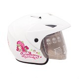 WTO Helm Anak Strawberry Shortcake All Size - Putih - Helm Motor Half Face