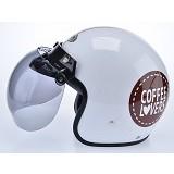 WTO Helmet Retro Coffee Lover Size M - Putih - Helm Motor Half Face