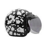 WTO Helmet Retro Cow Size L - Hitam - Helm Motor Half Face