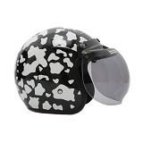 WTO Helmet Retro Cow Size XL - Hitam - Helm Motor Half Face