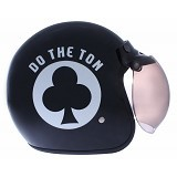 WTO Helmet Retro Do The Ton Size XL - Hitam Putih - Helm Motor Half Face
