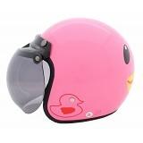 WTO Helmet Retro Duck Size M - Pink - Helm Motor Half Face