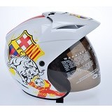 WTO Helmet X-Fast Barca Size L - Putih - Helm Motor Half Face