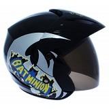 WTO Helmet X-Fast Bat Minion Size L - Hitam - Helm Motor Half Face