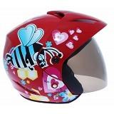 WTO Helmet X-Fast Bee In Love Size L - Merah - Helm Motor Half Face