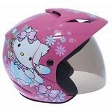 WTO Helmet X-Fast Charmmy Cat Size L - Pink Biru - Helm Motor Half Face
