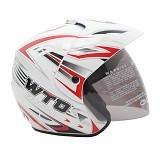 WTO Helmet X-Fast Graffio Size L - Putih - Helm Motor Half Face