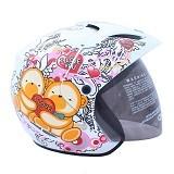WTO Helmet X-Fast Love Bear Size L - Putih Pink - Helm Motor Half Face