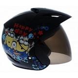 WTO Helmet X-Fast Minion Size L - Hitam - Helm Motor Half Face