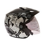 WTO Helmet X-Fast World Map Size L - Hitam - Helm Motor Half Face