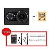 XIAOMI Yi Action Camera Internasional Edition + Housing Simple Bonus - Black (Merchant) - Camcorder / Handycam Flash Memory
