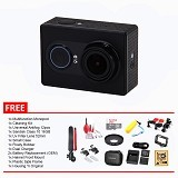XIAOMI Yi Action Camera Internasional Special Combo Package - Black (Merchant) - Camcorder / Handycam Flash Memory