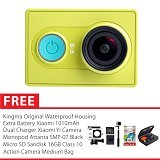 XIAOMI Yi Action Camera International Edition Combo Package - Green (Merchant) - Camcorder / Handycam Flash Memory