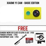 XIAOMI Yi Action Camera International Edition Paket B - Green (Merchant) - Camcorder / Handycam Flash Memory